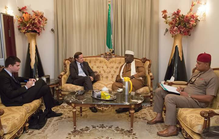 Photos: French ambassador visits Imo state governor Rochas Okorocha weeks after Jacob Zuma