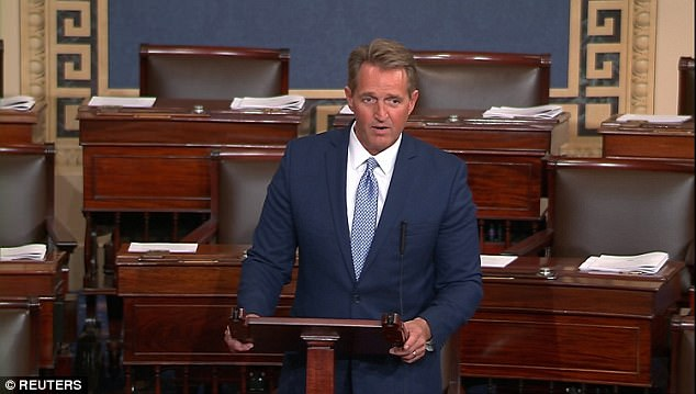 """Mr. President, I rise today to say: Enough"" - Republican senator Jeff Flake blasts Donald Trump in blistering speech"