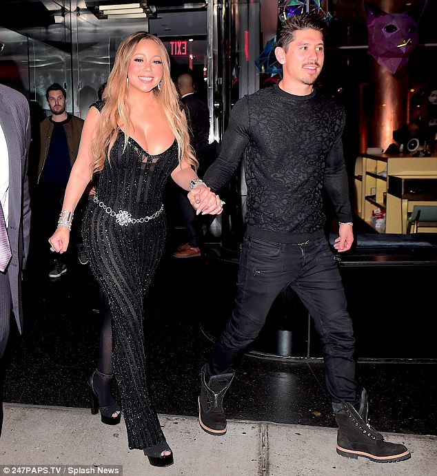 Mariah Carey steps out with boytoy Bryan Tanaka while wearing her $10m engagement ring from billionaire ex James Packer (Photos)