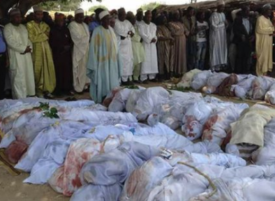 120 people allegedly killed by herdsmen over the weekend in Zamfara state laid to rest (photo)