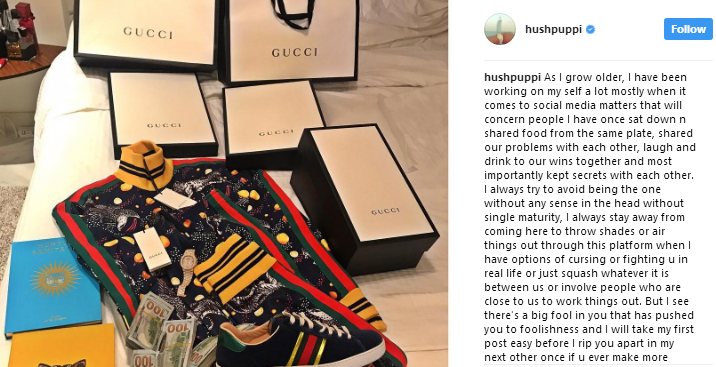 Hushpuppi slams former close friends for shading him on Instagram, threatens to release their secrets