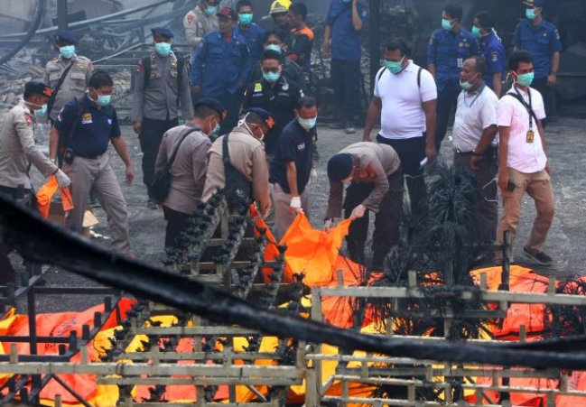 Explosion at a fireworks factory kills 47 people in Indonesia