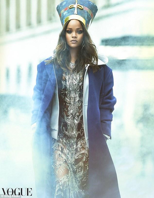 Rihanna channels Egyptian Queen Nefertiti for Vogue Arabia