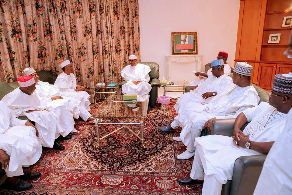 Photos: President Buhari grants audience to governors from the Northern states