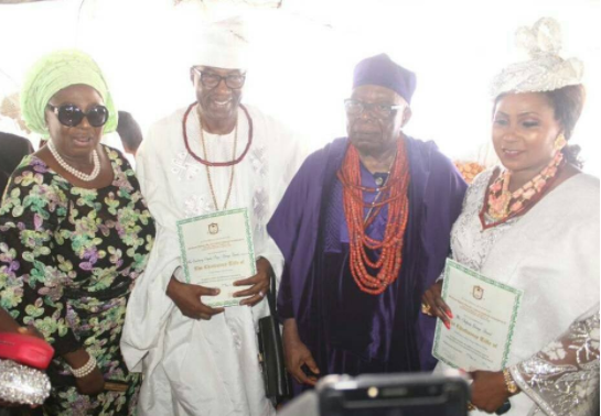 Photos: Otunba Gbenga Daniels and his wife installed as Asoju Oba and?Yeye Asoju Oba Of Ijeshaland