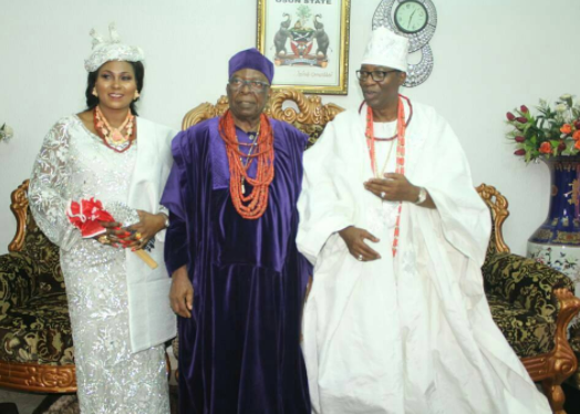 Photos: Otunba Gbenga Daniels and his wife installed as Asoju Oba and Yeye Asoju Oba Of Ijeshaland