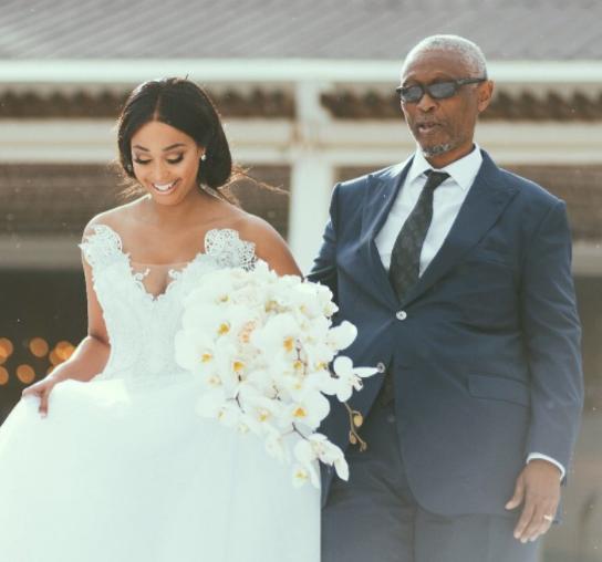 South African TV Personality Minnie Dlamini shares more stunning photos from her fairytale wedding to her TV producer, Quinton Jones
