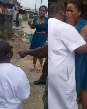 Video: Young lady weeps as her man fakes his arrest just to propose to her