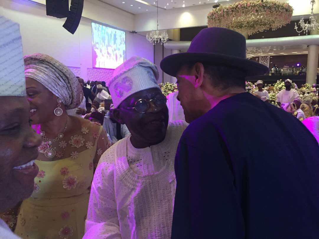 Interesting photos of some politicians at the wedding reception of Saraki