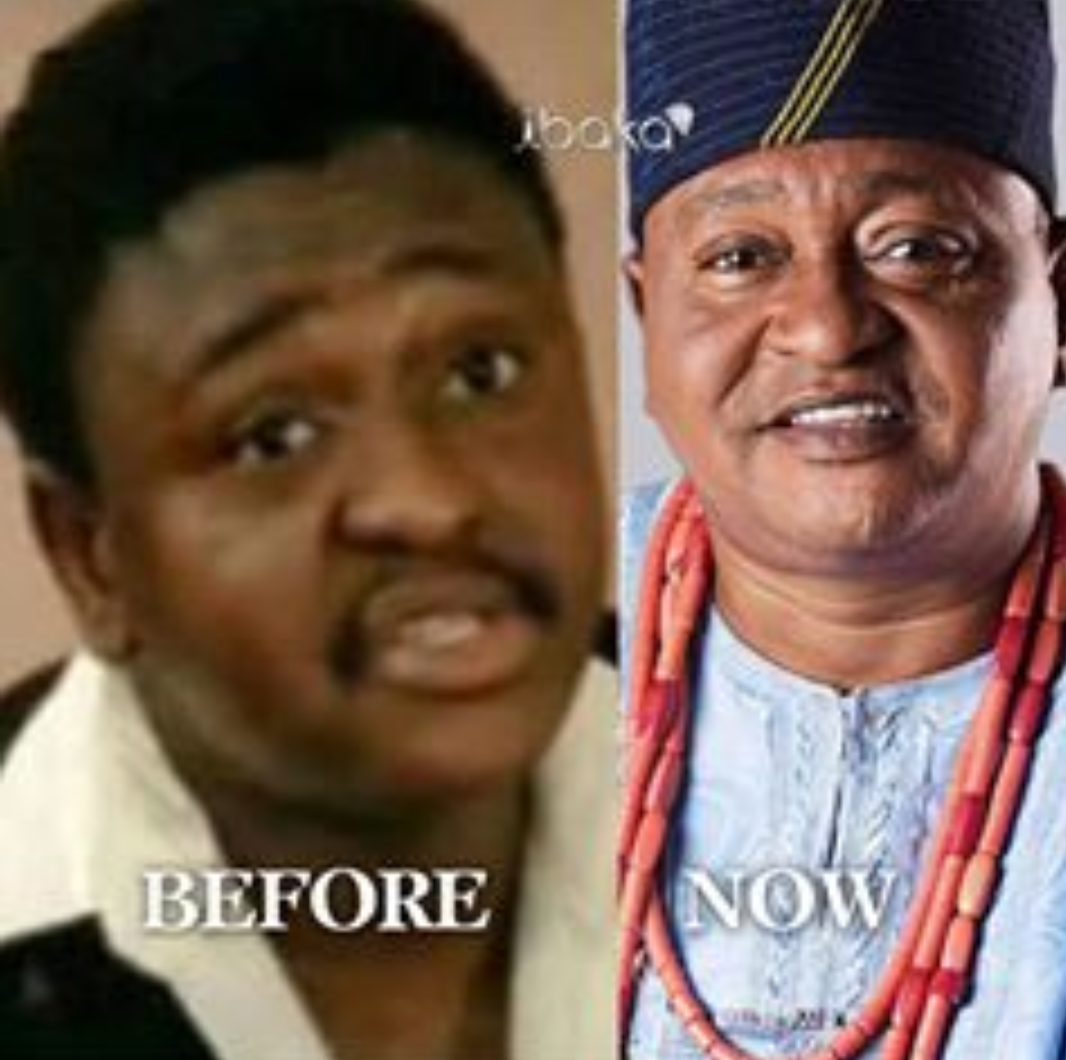 Epic throwback photo of a dark skinned Nollywood icon, Jide Kosoko