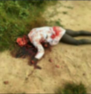 Graphic photo: Cult member butchered to death overnight in Ekiti State University