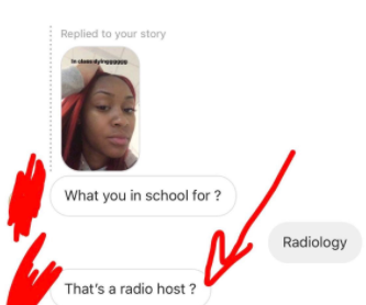 Lady studying Radiology puts male admirer on blast after he asked her if she wanted to became a radio host