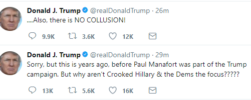 President Trump reacts as his?former campaign chairman, Paul Manafort surrenders to FBI?