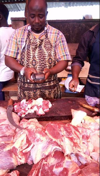 Viral photo of a meat seller using a POS