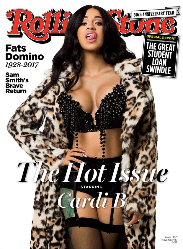 Rapper Cardi B covers the November 2017