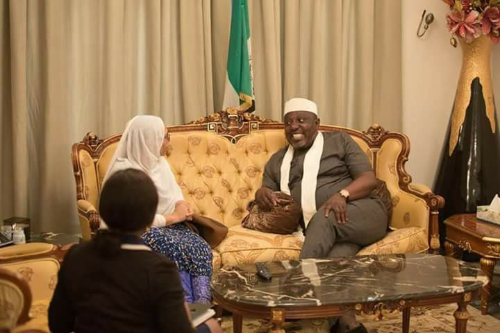 Photos: Ethiopian ambassador to Nigeria visits Governor Rochas Okorocha