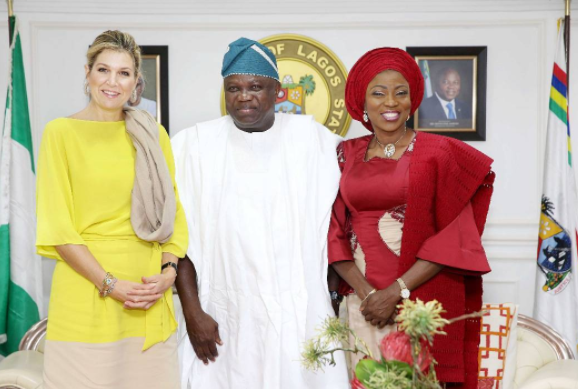 Photos: Queen Maxima of the Netherlands visits Governor Ambode in Lagos
