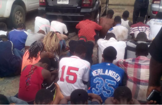 Photo: Bayelsa Police parades 36 males, 30 females for being in possession of Indian hemp