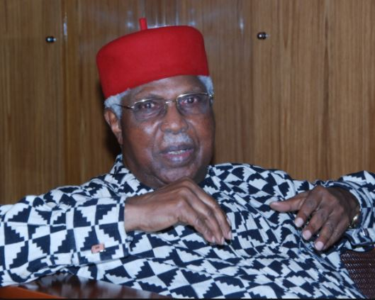 Former Vice President, Alex Ekwueme reportedly in coma after collapsing at home