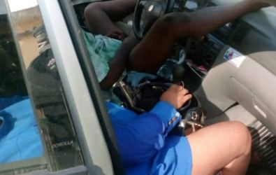 Graphic photos of the lovers who were found dead inside a car in Ogba, Ikeja