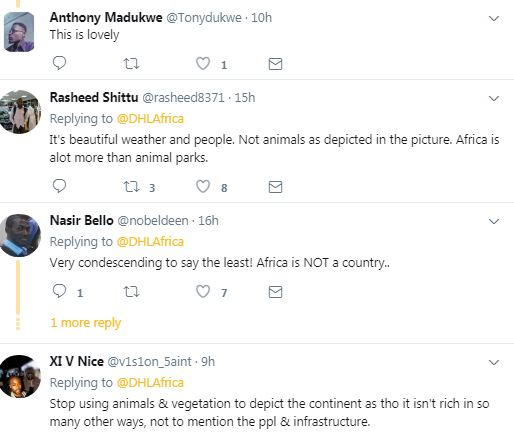 Africans come for DHL after they used photos of Zebras and bush to represent Africa on Twitter