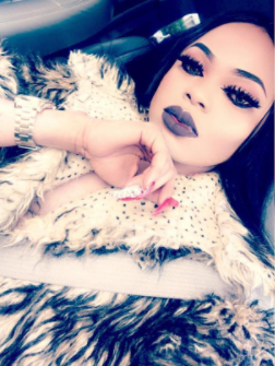 Bobrisky storms Ghana with a full face of make-up...but his filter on Snapchat makes him look very pale!