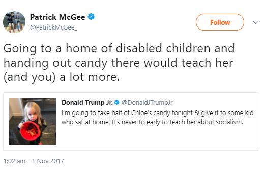 Donald Trump Jr. sends Halloween tweet about