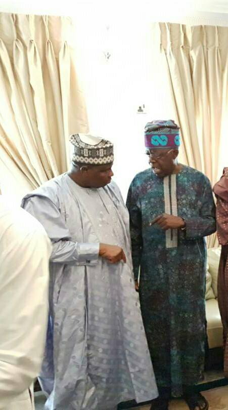 Photos: Sokoto and Katsina state governors pay condolence visit to Bola Tinubu whose eldest son died yesterday