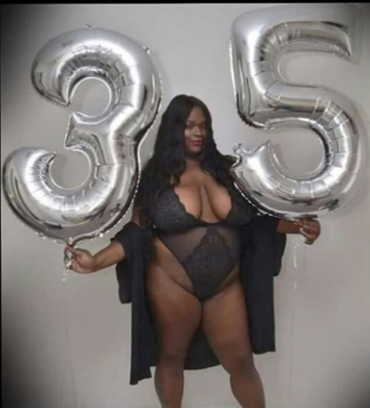 Big Black Woman poses in skimpy lingerie for her 35th birthday and social media users go hard on her