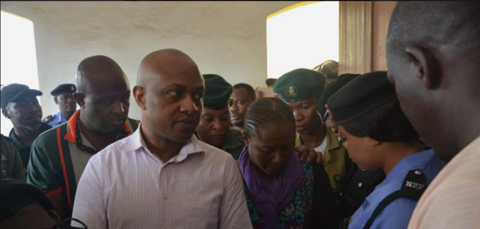 Photos: Notorious kidnapper, Evans, all smiles as he appeared in court today
