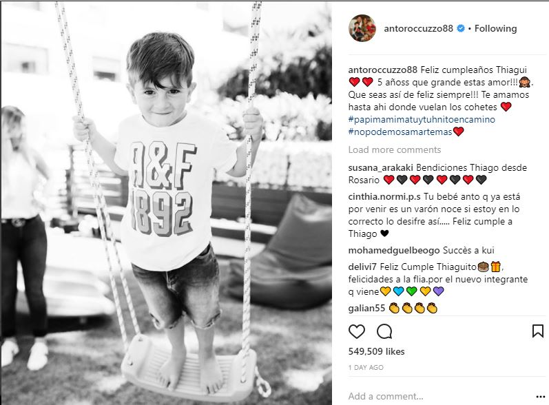Lionel Messi and wife Antonella Roccuzzo reveal the gender of their third child