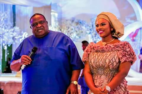 Photos: Billionaire businessman, Emmanuel Iwuanyanwu and his 30-year-old wife, Frances, host friends and family to his 75th birthday party