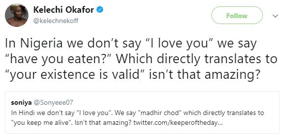 Between a Nigerian and an Indian twitter user