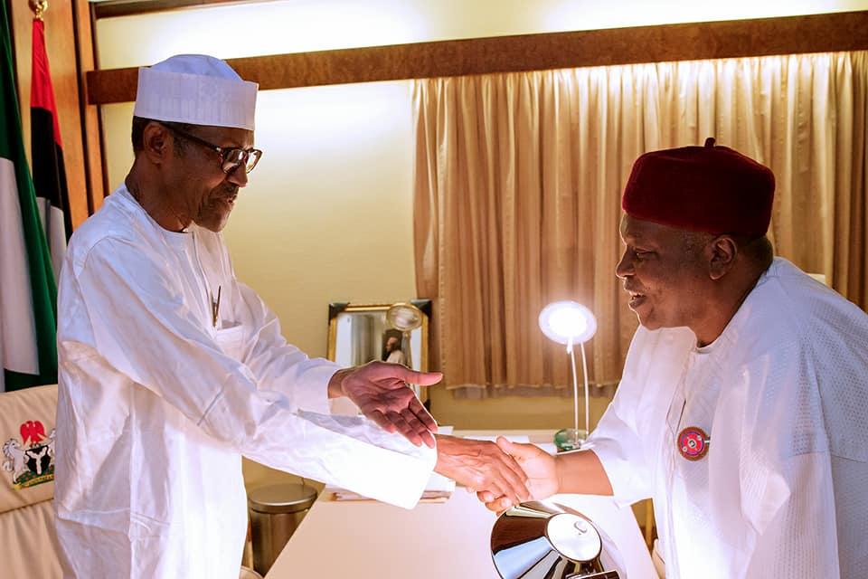 Photos: President Buhari receives Taraba state governor, Darius Ishaku, at the state house