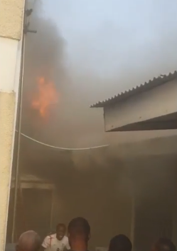 Photos/Video: Hip TV Studio engulfed in flames this evening, cause of the fire is still being investigated