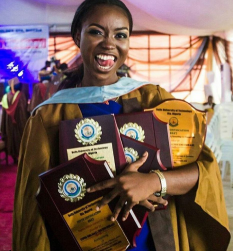 With a GPA of 4.97 Nigerian lady graduates as?Bells University