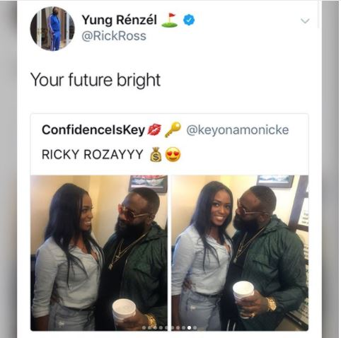 Lol...see how Twitter users reacted after fan shared photos of Rick Ross staring at her?