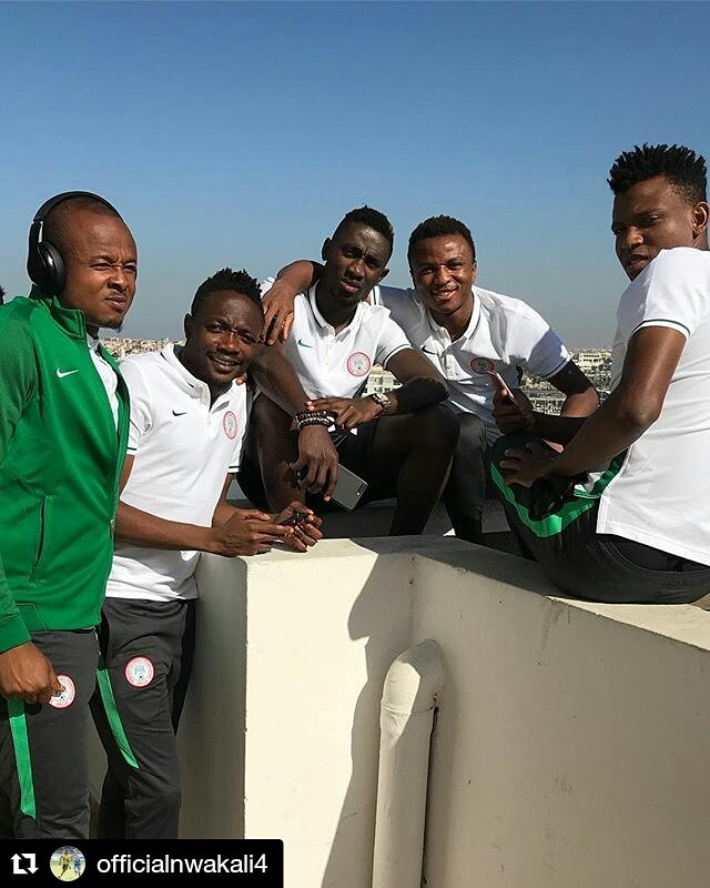 2018 World Cup qualifiers: Super Eagles players pictured in Rabat ahead of Algeria clash (Photos)