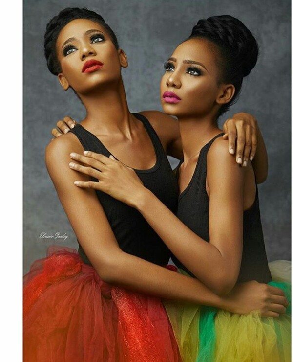 Photos: Check out this stunning identical Nigerian twin models