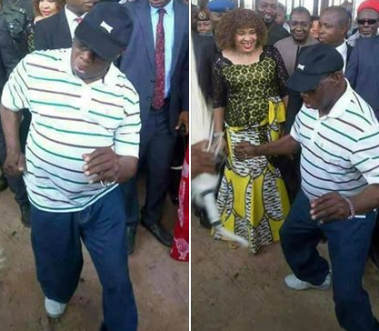 Photos of ex-president Olusegun Obasanjo showing off his dancing skills