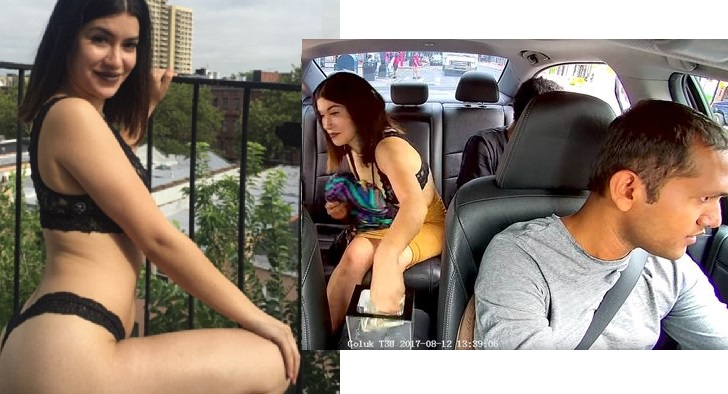 (Video) Lady Caught Stealing Money From Uber Driver's Tip Jar In New York (Photos).