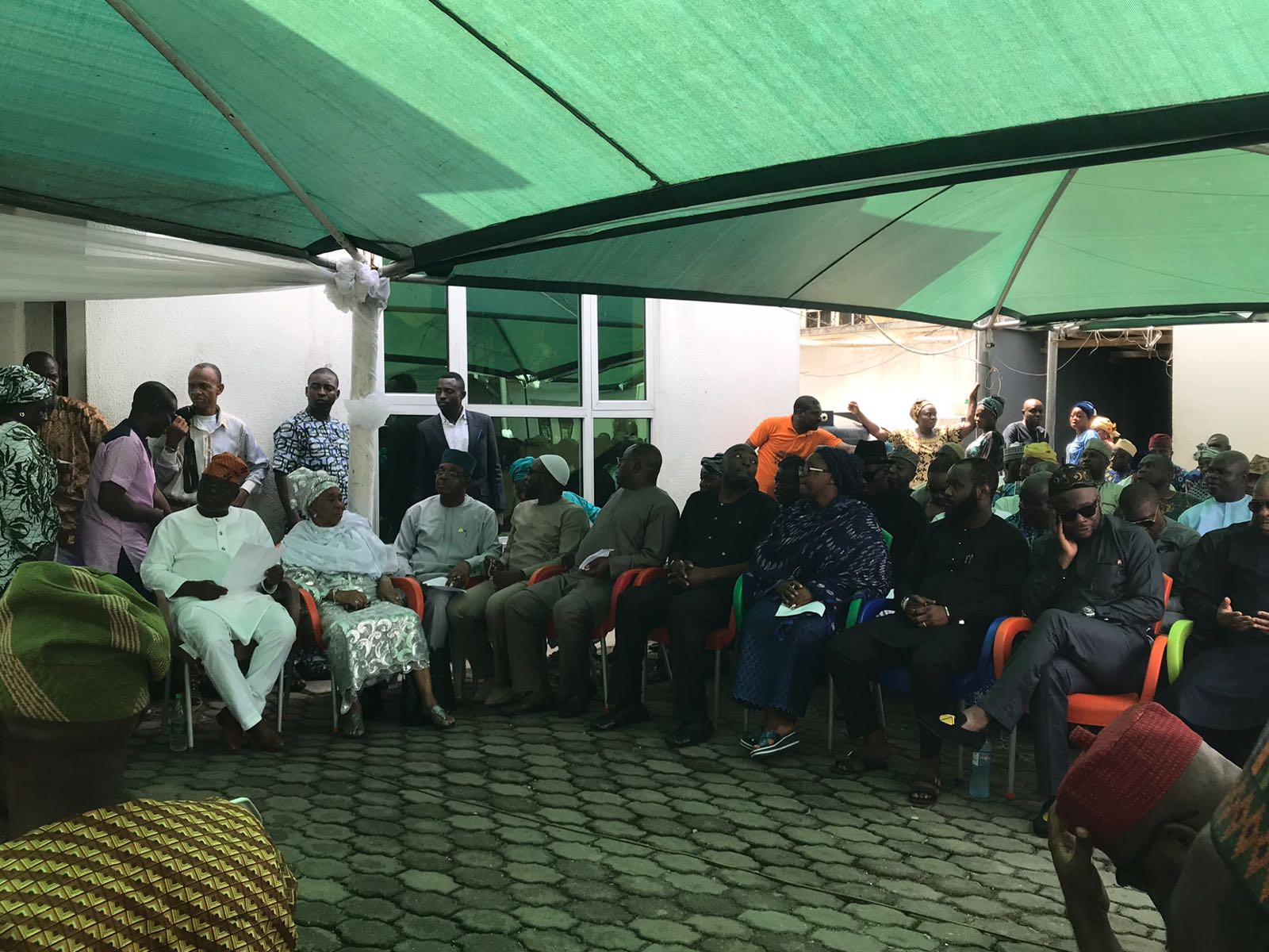 Photos from the 8th day fidau prayer for  Bola Tinubu