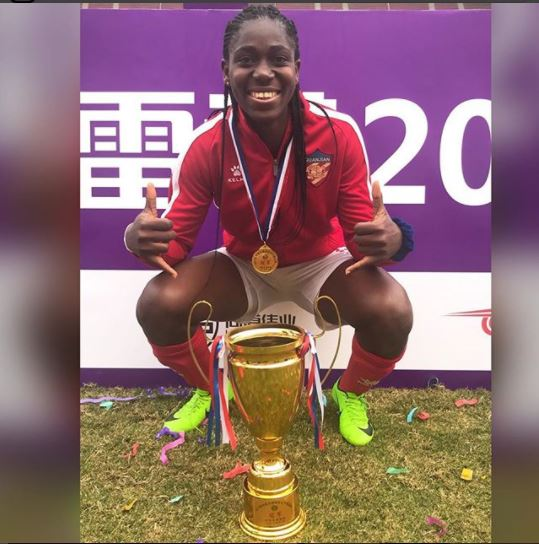 Super Falcons star Asisat Oshoala crowned Chinese women?s League