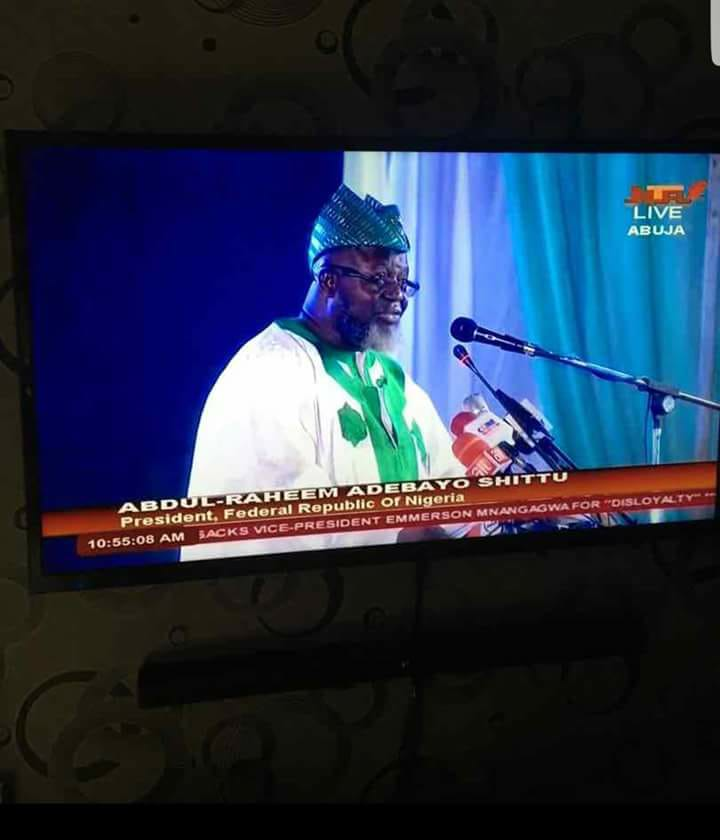 Biko, NTA when did Minister of Communication Adebayo Shittu become the President of Nigeria? See what they put on live TV?