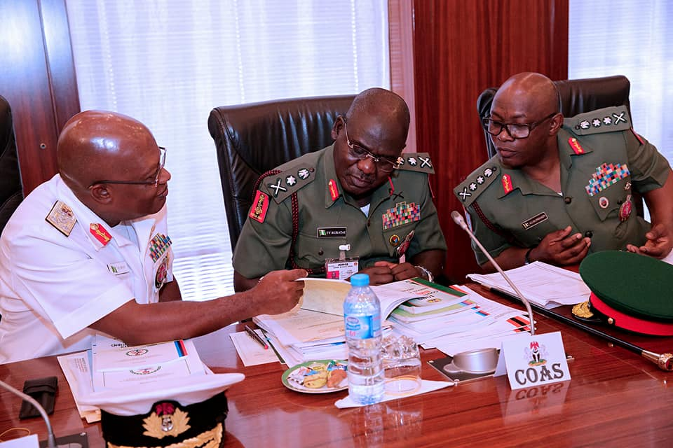 Photos: President Buhari presides over Armed Forces council meeting in the State House