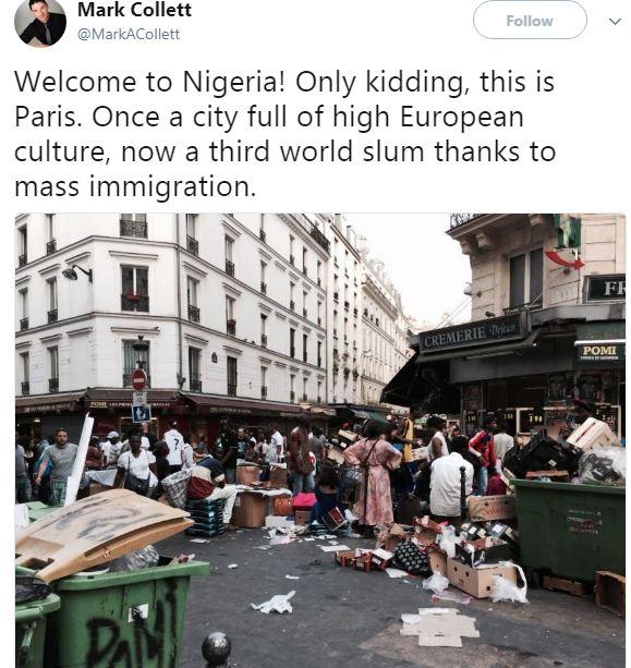 British activist likens Nigeria to a slum photo taken in Paris