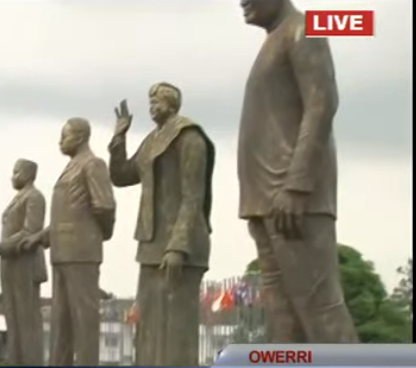 Photos: Imo state governor, Rochas Okorocha, unveils Liberain President, Ellen Johnson Sirleaf