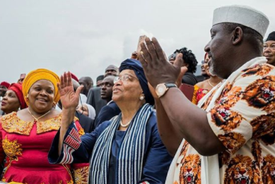 Turns out Governor Okorocha also unveiled a road named after Liberian President, Ellen J. Sirleaf in Imo today (photo)