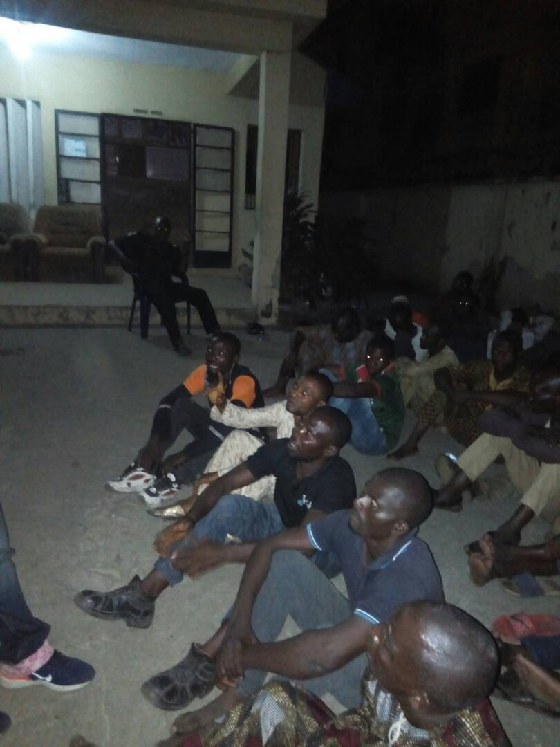 Photos: Lagos state police command arrests over 30 traffic robbers in Oshodi