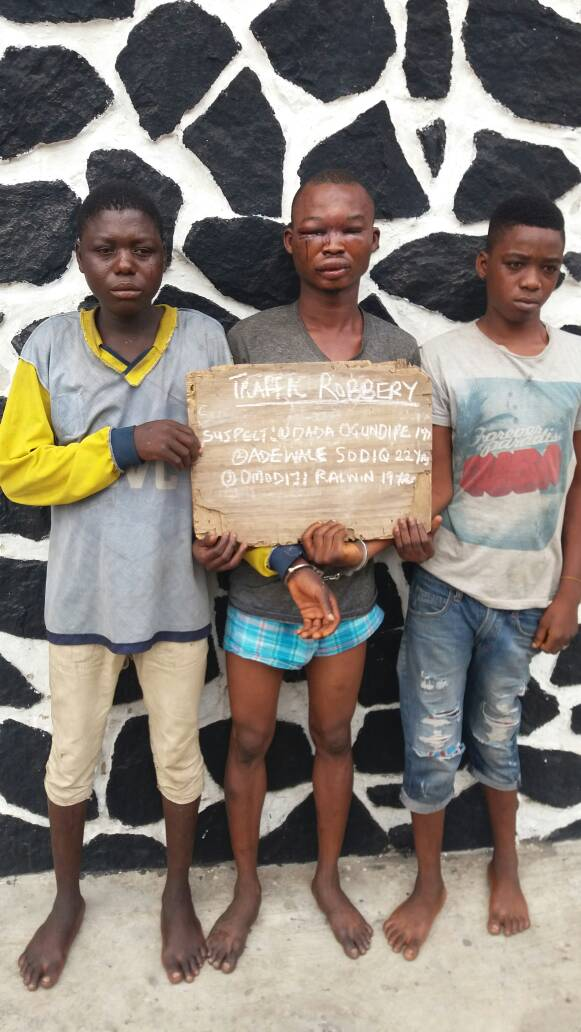 Photos: Seven traffic robbers arrested in Lagos
